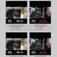 Shelf Talker - Fifty Shades of Grey Wine