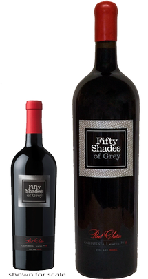 First Edition: The Fifty Shades of Grey Red Satin Hand-Etched 3 Liter